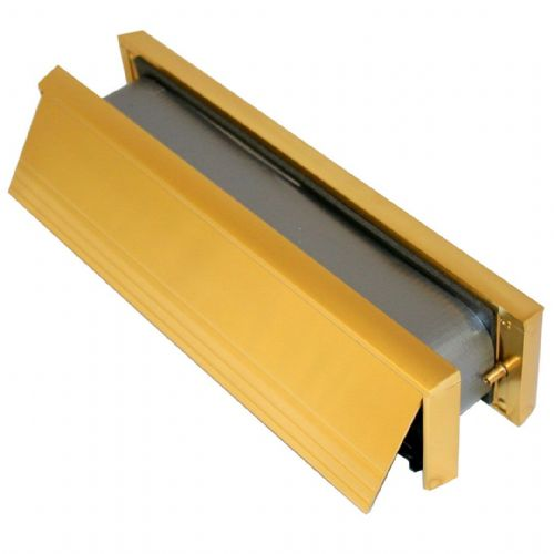 Fire Rated Telescopic Letterbox Matching Frame (Polished Gold)